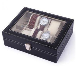 caseta-ceasuri-si-bijuterii-22-spatii-neagra