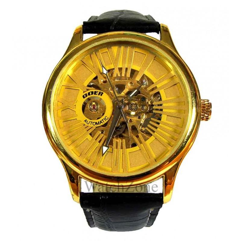 ceas-barbatesc-automatic-goer-roman-gold