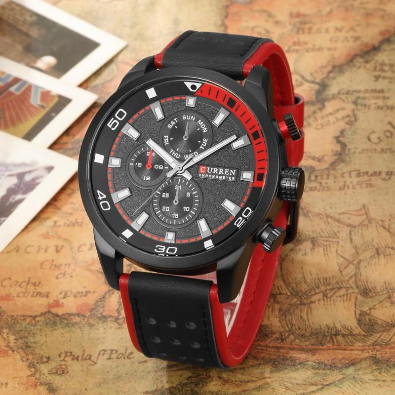 ceas-barbatesc-curren-original-negru-rosu-m8250 (1)