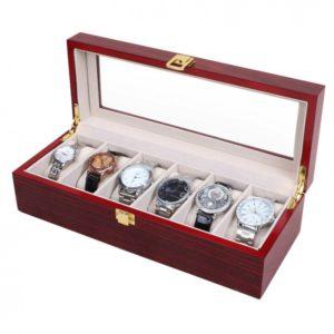 cutie-depozitare-organizare-6-ceasuri-lemn-cires