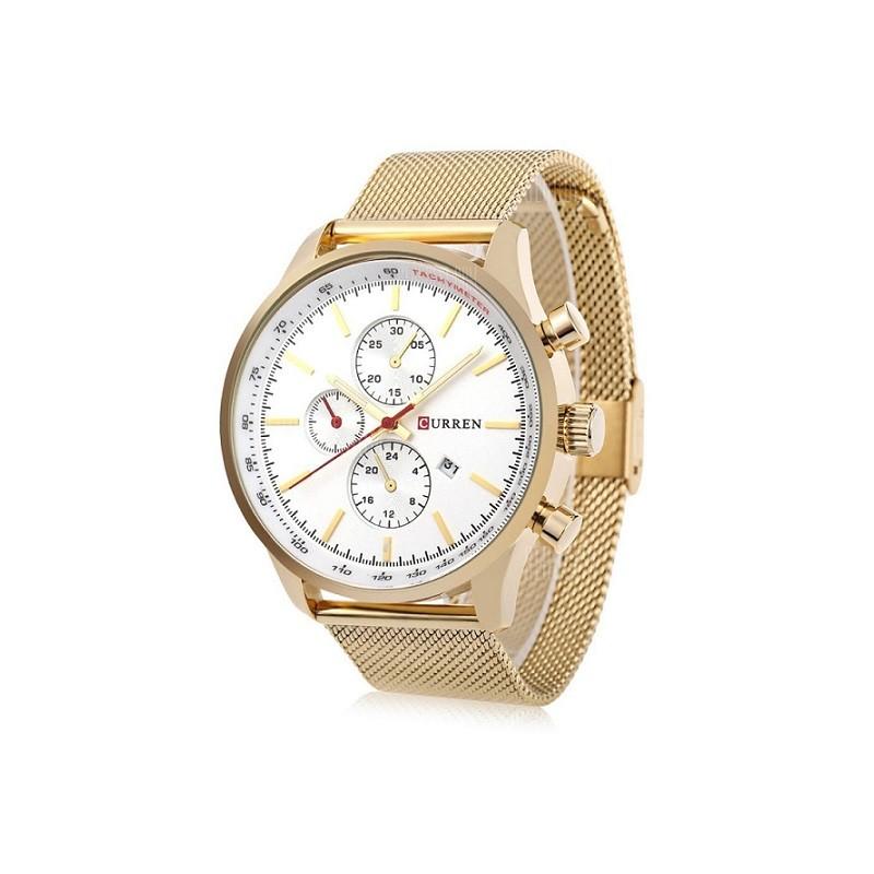ceas-barbatesc-auriu-curren-m8227-cadran-alb
