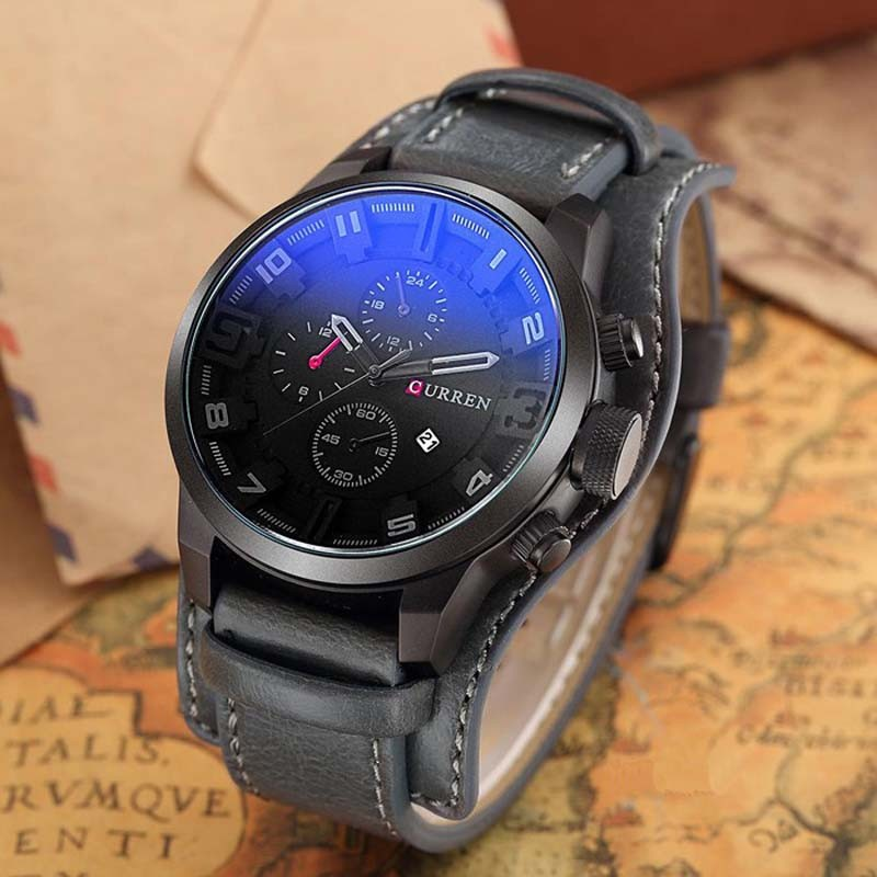ceas-barbatesc-curren-original-negru-m8225