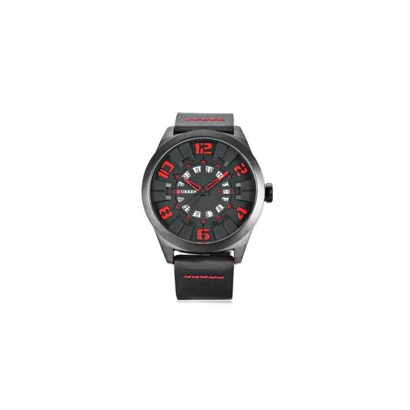 ceas-barbatesc-negru-curren-m8258-black-red