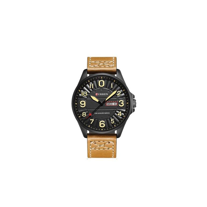 ceas-barbatesc-curren-luxury-military-brown