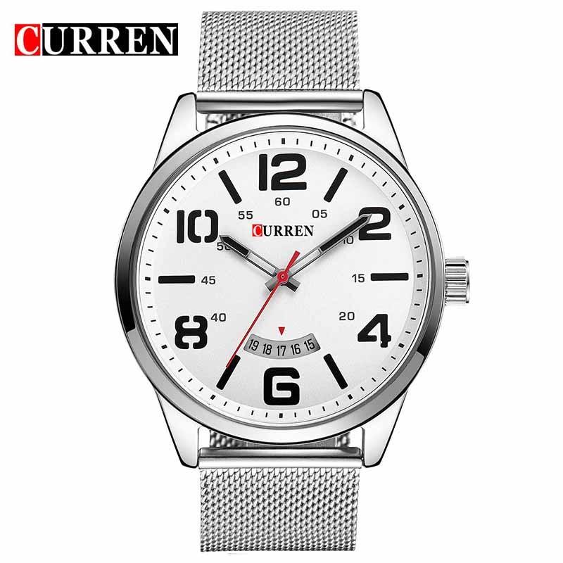 ceas-barbatesc-curren-original-argintiu-m8236