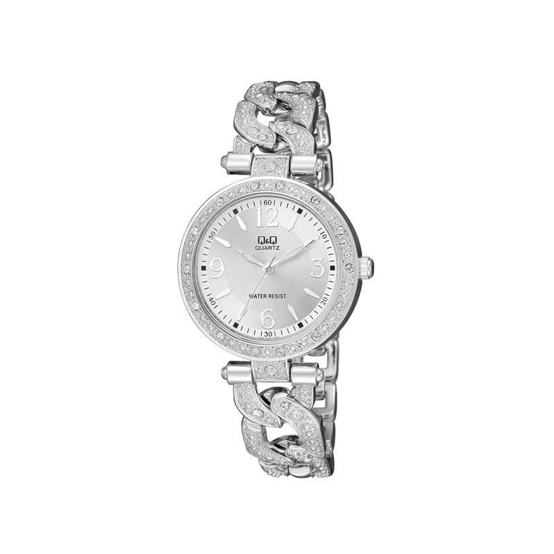 ceas-dama-fashion-qq-f539-204y-argintiu