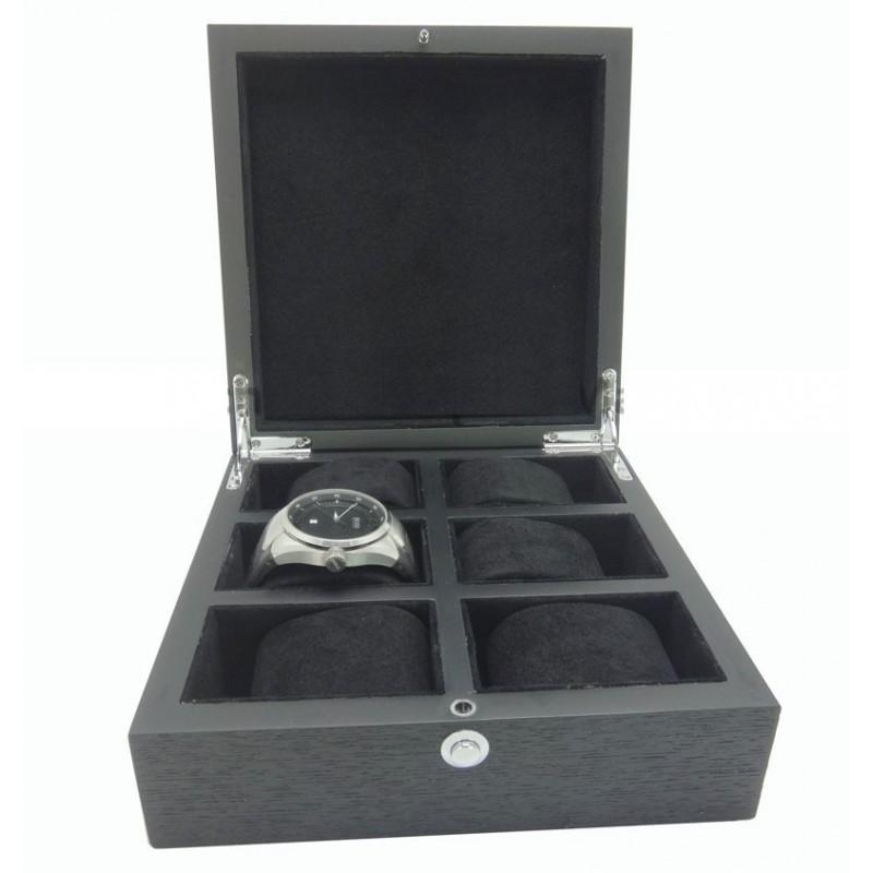 cutie-depozitare-6-ceasuri-lux-lemn-negru