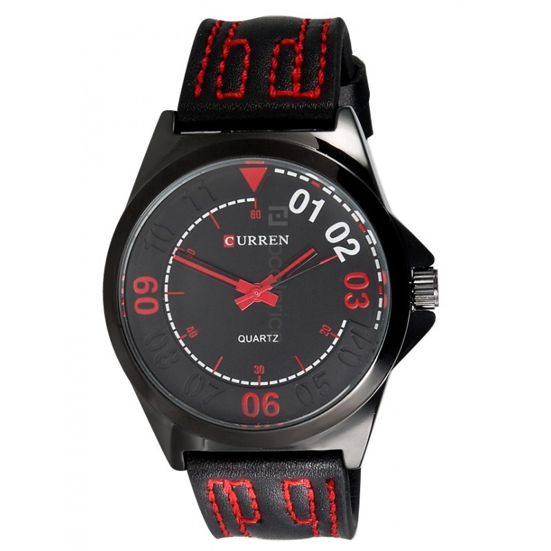 ceas-barbatesc-curren-fashion-analog-black