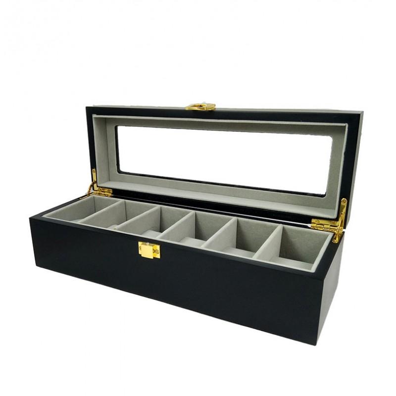 cutie-ceasuri-lemn-6-spatii-neagra-cdl023