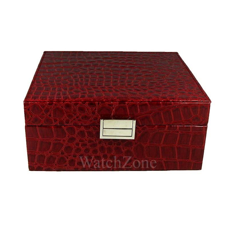 cutie-depozitare-6-ceasuri-imprimeu-rosu